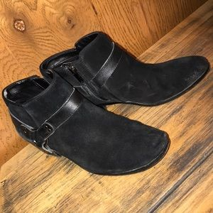 Black Suede Ankle Boots 8.5